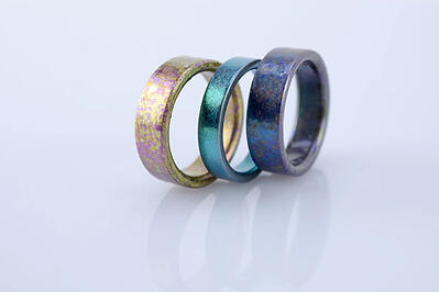 CARATS rings anodized titanium