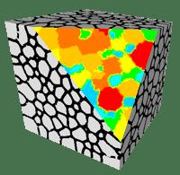 DIGIMU 3D polycrystal simulation