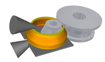 FORGE® radial-axial circular rolling simulation