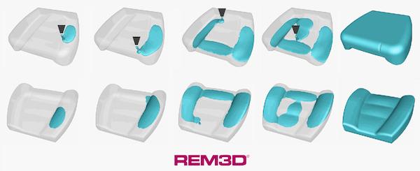 REM3D open mold foaming simulation