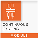 THERCAST Modul continuous casting