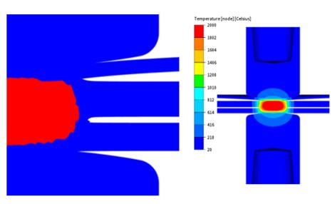 TRANSWELD spot welding fusion zone 3 sheets